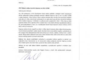 Žádost o zákaz tranzitní dopravy na silnici II/380 - blízké okolí obce Otmarov