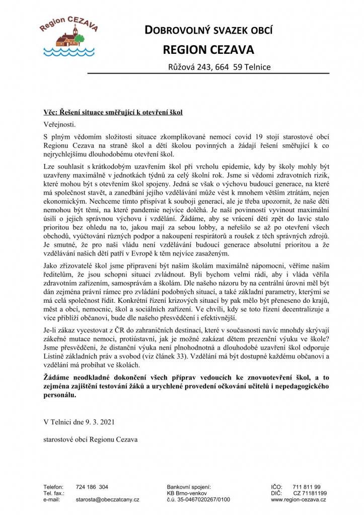 dopis veřejnosti-školy