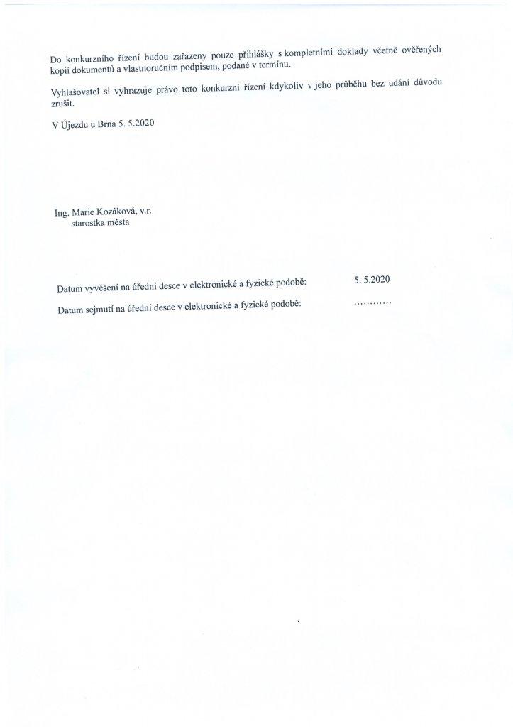 Konkurz ZŠ Újezd 2