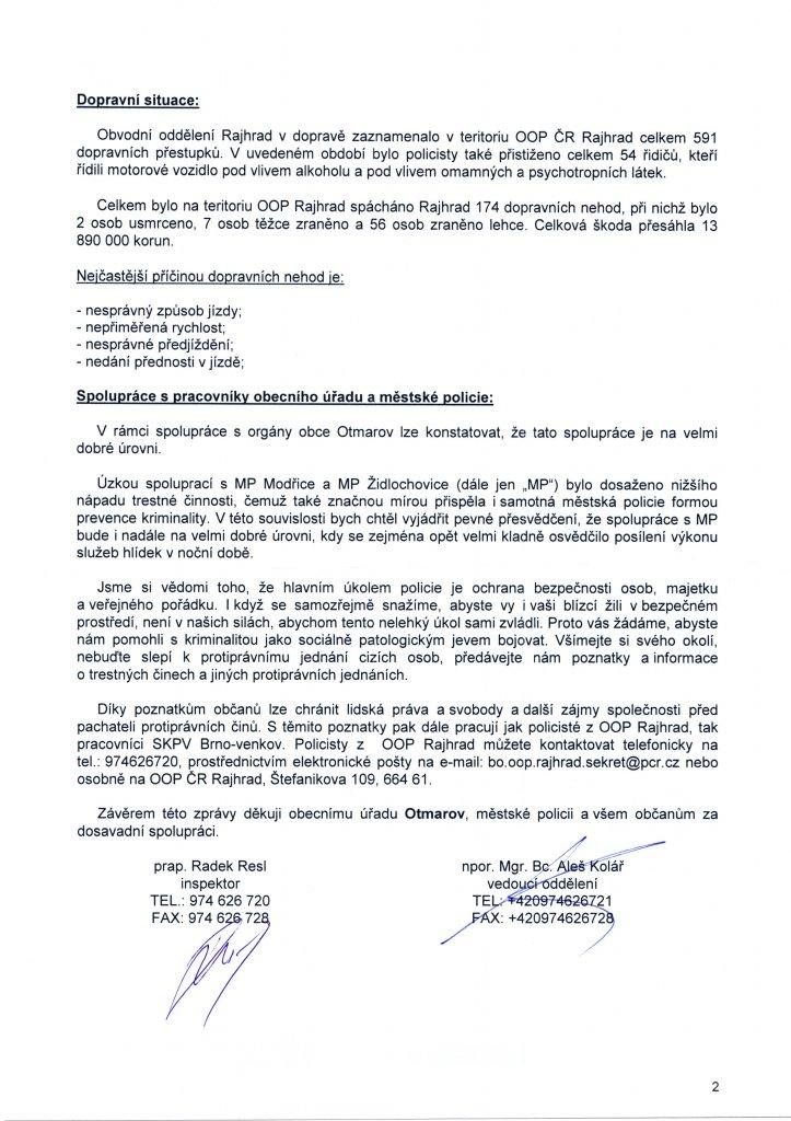 PČR - bezpečnostní situace - Otmarov (2)