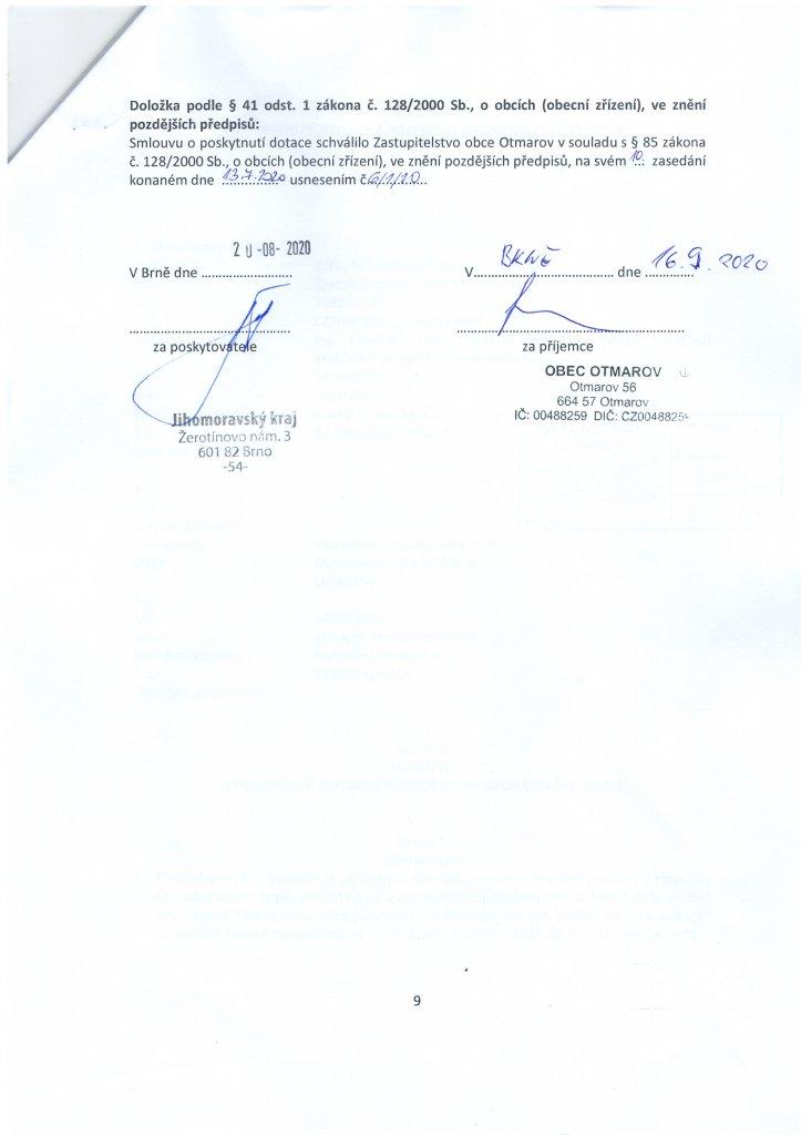 Smlouva dotace - kanalizace (9)
