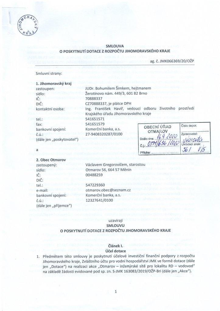 Smlouva dotace - vodovod (1)