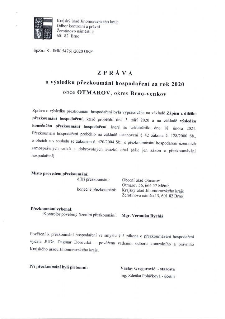 Zpráva o výsledku přezkoumání 2020 (1)